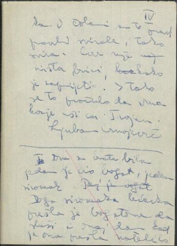 Folklorna građa iz okolice Kostajnice, 1960. Terenska bilježnica br. 4.