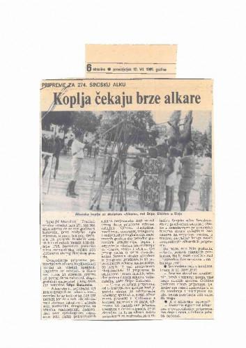 Ozivljavanje starih tradicija (više novinskih isječaka)