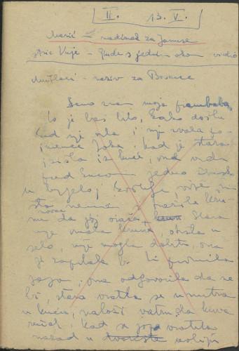 Folklorna građa Banije 3, 1956. Terenska bilježnica br. 2.