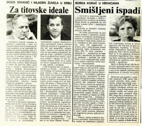 Dan ustanka 1989. - Za titovske ideale, Smišljeni ispadi