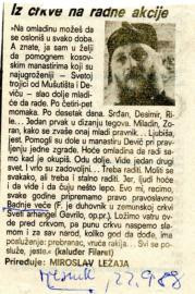 Božić 1988. - Iz crkve na radne akcije
