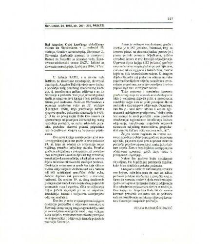 Opisi kmečkega oblačilnega videza na Slovenskem v 1. polovici 19. stoletja