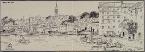 Crteži narodne arhitekture, narodnih nošnja i narodnih rukotvorina sa otoka Lošinja, Srakana i Suska; 15. dio tabla 498 - 518