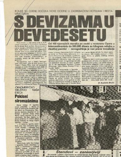 Nova godina 1989. - S devizama u devedesetu; Pokloni siromašnima