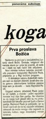 Božić 1988. - Prva proslava Božića